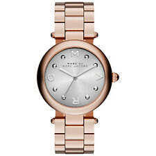 BRAND NEW MARC JACOBS MJ3483 DOTTY SILVER GRADIENT DIAL ROSE GOLD WOMEN'S WATCH