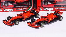 Charles Leclerc + Sebastian Vettel  Ferrari SF90 1/43 Bburago Modellini F1 2019
