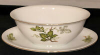 Japan PRINCESS CHINA WOODSONG *GRAVY BOAT W/ATTACHED LINER PLATE*