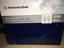 Kimberly Clark Medium M Sterling Nitrile xtra PF KC300 exam gloves Sealed 100 ct