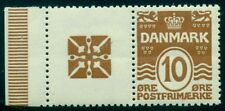DENMARK (RE51) 10ore brown LOGO advertising pair, og, NH,