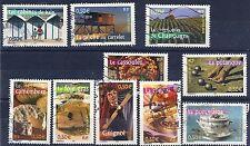 YT N°3559 à 3568 Sie complète de 2003 PORTRAITS DE REGIONS oblitérée