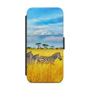 WILD ZEBRA ANIMAL WALLET FLIP PHONE CASE COVER FOR IPHONE SAMSUNG HUAWEI     s35