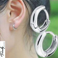 Women Girls 925 Sterling Silver Round Hoop Sleeper Earring 10mm Very Small