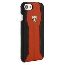 Lamborghini Huracan Cuir iPhone 7, iPhone 8 Housse De Protection Back Case Cover Orange
