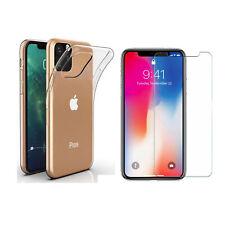 "Coque + film en verre trempé iPhone 11 (6,1 "") 2019 - Silicone, Transparent"