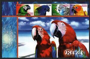Antigua Barbuda 2003 MNH SS, Birds, Macaw, Blue-headed Parrot, Sun Parakeet