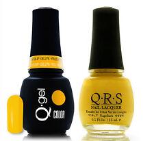 Gel & Polish QRS Beauty Combo MAT278 Yellow Tulip COMBO Neon Yellow