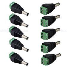 10Pcs Dc Jack 5.5*2.1mm Male Led Connector Port for Led 5050 5630 3528 Cctv