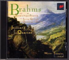 JUILLIARD STRING QUARTET: BRAHMS Sting Quintet No.1 & 2 CD Streichquintett SONY