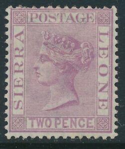 SG 4 Sierra Leone 1859 6d Reddish Lilac Very fine used  CAT £27