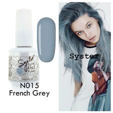 SYSTER 15ml Nail Art Soak Off Color UV Lamp Gel Polish N015 - French Grey