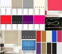 Roller Blinds Easy Fit Trimable Home Office Window Square Eyelet Roller Blind