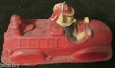 Vintage DISNEY MICKEY MOUSE RUBBER FIRE TRUCK Original Cond. Uncleaned Barn Find