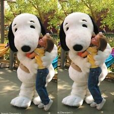 SnoopyWhite dog character fancy dress cos party game Mascot Costume Adult Suit