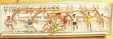 HO Merten 2486 Female TRACK TEAM EIGHT (8) SPORTS FIGURES WITH (80) Hurdles