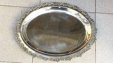 TOMMASSO DI TURRO ITALY LARGE SILVER PLATTER DISH 1006 GRAMS/ HALLMARKED 800