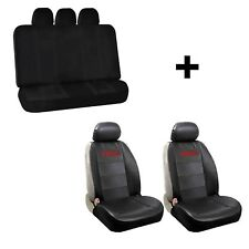 New 2 Elite Synthetic Leather Sideless Seat Covers & Free Black Bench for GMC