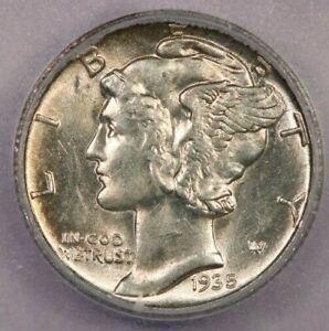 1935-S 1935 Mercury Dime ICG MS63 FB