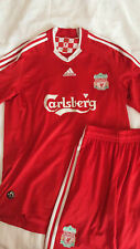 Liverpool Home Shirt & Shorts 2008-10, Red Size Medium TORRES 9 short sleeve