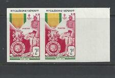 NEW CALEDONIA - 295 - IMPERF PAIR - MNH - 1952  - CENTENARY OF MILITARY MEDAL