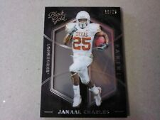2016 Black Gold Jamaal Charles Base Football card #'d 11/25 Texas Longhorns
