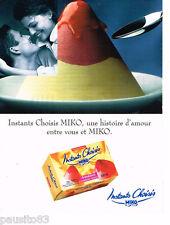 PUBLICITE ADVERTISING 085  1996  les glaces parfaits INSTANTS CHOISIS de MIKO