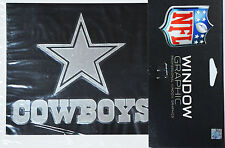 "Dallas Cowboys Silver Chrome Vinyl Window Graphic Decal NFL Football 4"" x 5"""