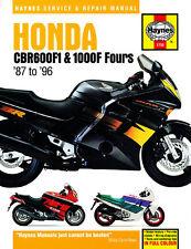 HAYNES 1730 MOTORCYCLE SERVICE REPAIR MANUAL HONDA CBR600F1 1000F FOURS 87 - 96