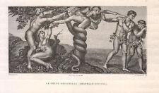 Michelangelo il peccato originale 1877  xilografia