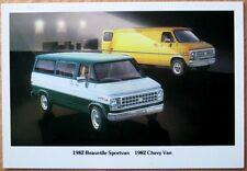 1982 Postcard: Chevrolet / Chevy Van/Beauville Sportvan