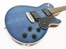 New! Godin Core HB Flame Top Electric Guitar, Denim Blue