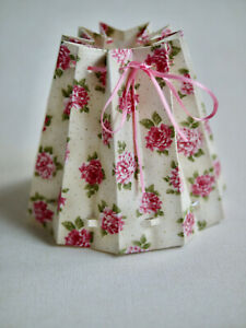 Romantic Small Fabric Covered, Lampshade, Table Lamp, Light Roses