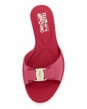 Salvatore Ferragamo Cirella Bow Silver / Bubble Gum Jelly Sandals Size 7C**$275