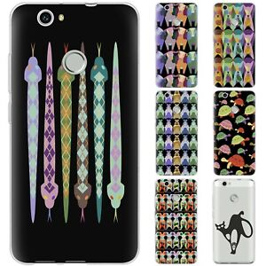 Dessana Animals Abstract Silicone Protection Cover Case Phone For Huawei