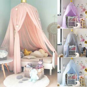 Kinder Mädchen Betthimmel+Licht Moskitonetz Schlafzimmer Baldachin Baby Geschenk