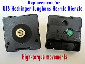 Quartz HIGH-TORQUE mechanism movement, UTS, Hechinger, Junghans, Hermle, Kienzle