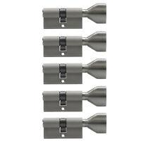 5x Knaufzylinder 70mm 35/35 +25 Schlüssel Zylinder Schloss gleichschließend KSN