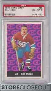 1961-62 Parkhurst #38 Bill Hicke psa 8 nm-mt Montreal Canadiens Set Break