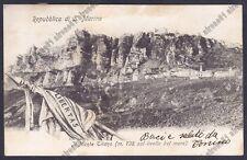 SAN MARINO 56 REPUBBLICA DI SAN MARINO - MONTE TITANO Cartolina viaggiata 1906