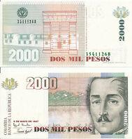 Kolumbien / Colombia - 2000 Pesos 6. 5. 1997 UNC - Pick 445b
