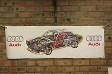 audi 80 rally car  B1 B2 B3 B4  work shop banner man cave garage pvc banner
