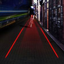 5 LED Lámpara Luz Trasera de Rayo 2 Láser LED Para Bicicleta Linterna Ciclismo