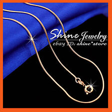 18k Rose Gold Filled N91 Snake Chain for Pendant Mens Ladies Solid Necklace 45cm