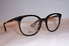NEW CHRISTIAN DIOR EYEGLASSES CD 3287 QSH HAVANA GOLD 48mm RX AUTHENTIC