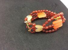 M & J Savitt  4 strand carnelian bracelet with lighter carnelian stone bracelet