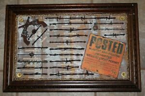 Antique Barbed Wire Display Art Collection 20 Pieces Cowboy Western Decor(432)