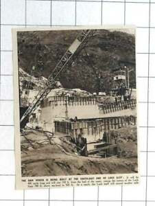 1948 Dam Being Built At The Southeast End Of Loch Sloy