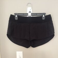 Women's Lululemon Running Shorts Sz 8 Black Lined #SJ