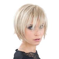 Fashion 10 inch Wig Short Straight Full Wigs Beige Women Cosplay Party Wigs